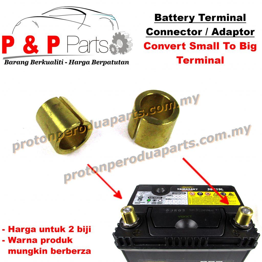 Battery Terminal Adapter Kepala Bateri Connector Converter Tembaga Copper - 2 biji