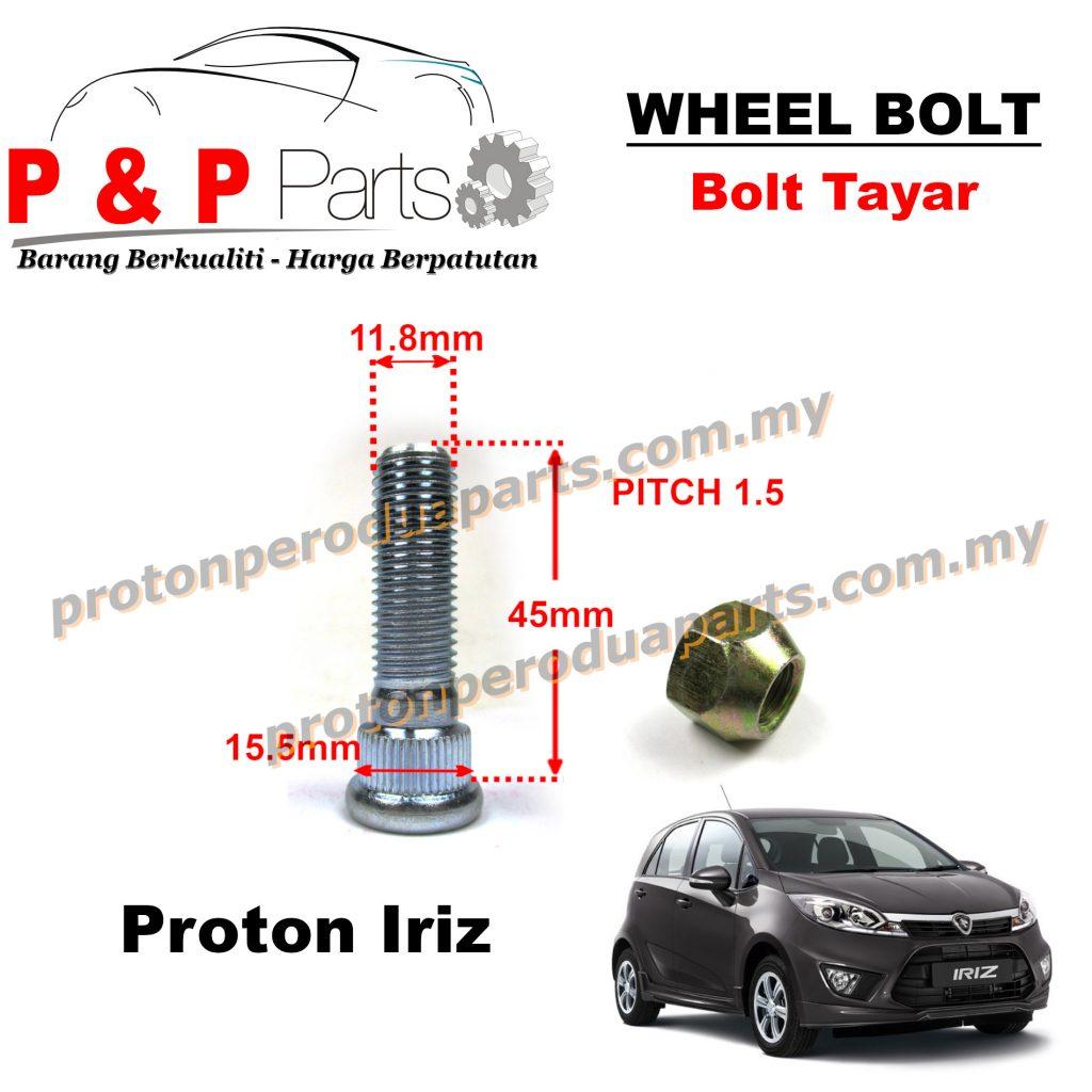 Wheel Bolt And Nut Skru Nat Tayar For Proton Iriz