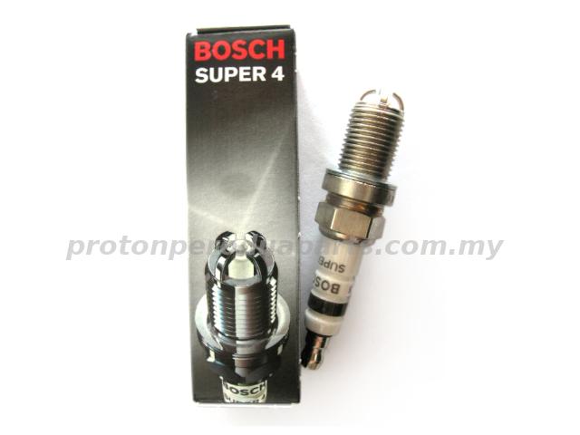 Bosch Super 4 Spark Plug for Proton Wira Satria Perdana (FR78X) - 4pcs/SET