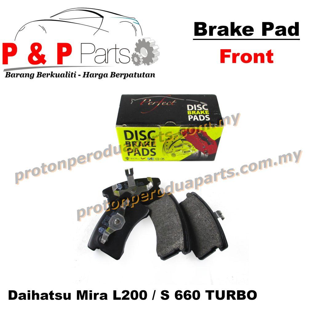 Front Brake Pad - Kancil Daihatsu Mira L2 L2S 660 Turbo