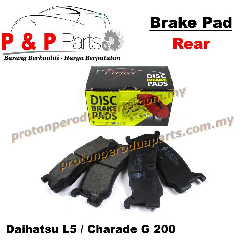 Rear Brake Pad Belakang - Kancil Daihatsu Mira L5 Charade G200