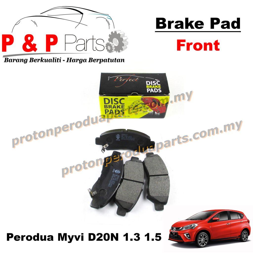 Front Brake Pad - Perodua Myvi D20N Eco G3 Daihatsu Sirion