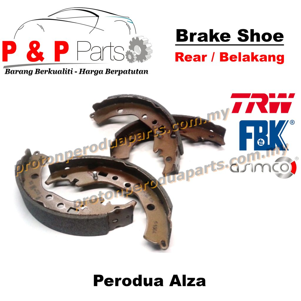 Rear Brake Shoe Lining Pad Belakang - Perodua Alza