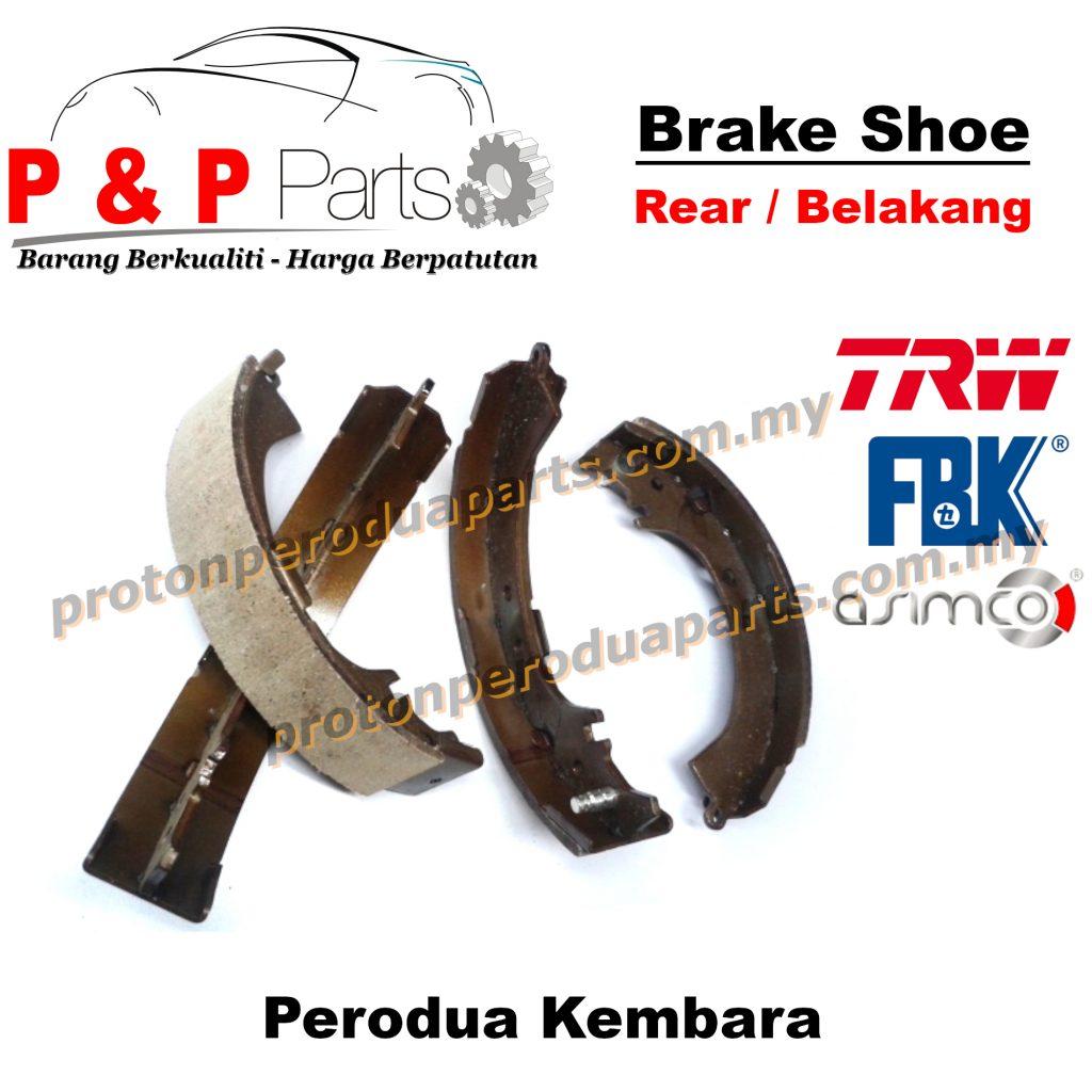 Rear Brake Shoe Lining Pad Belakang - Perodua Kembara