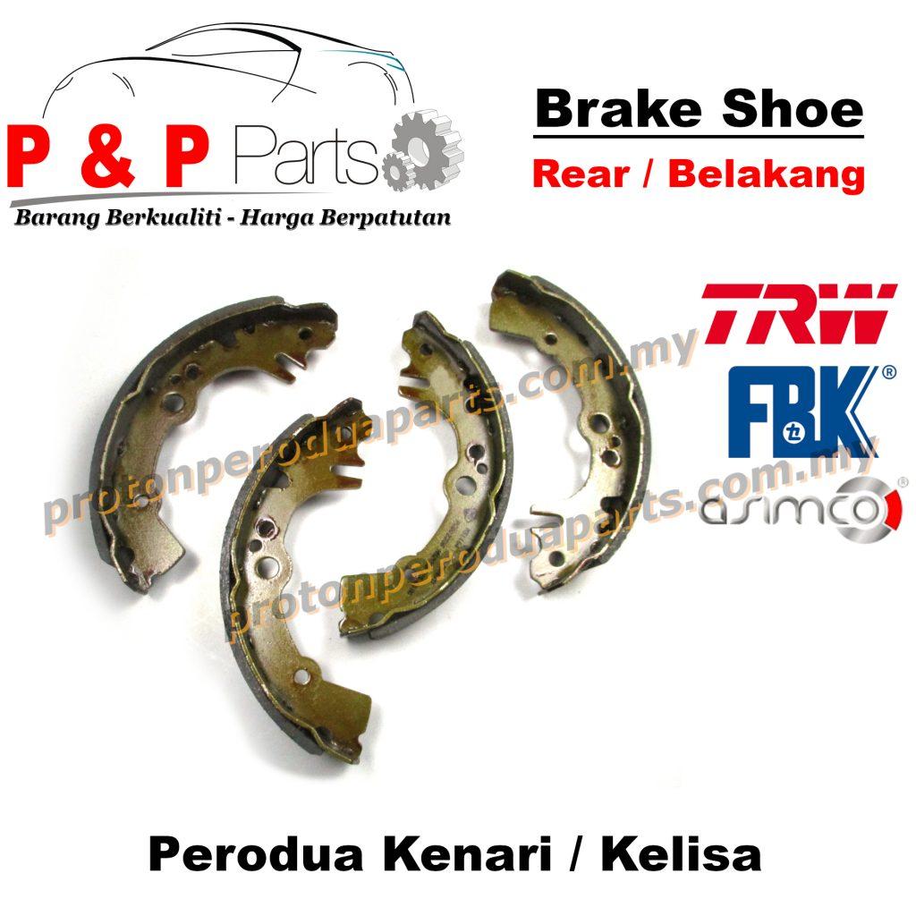 Rear Brake Shoe Lining Pad Belakang - Perodua Kenari Kelisa