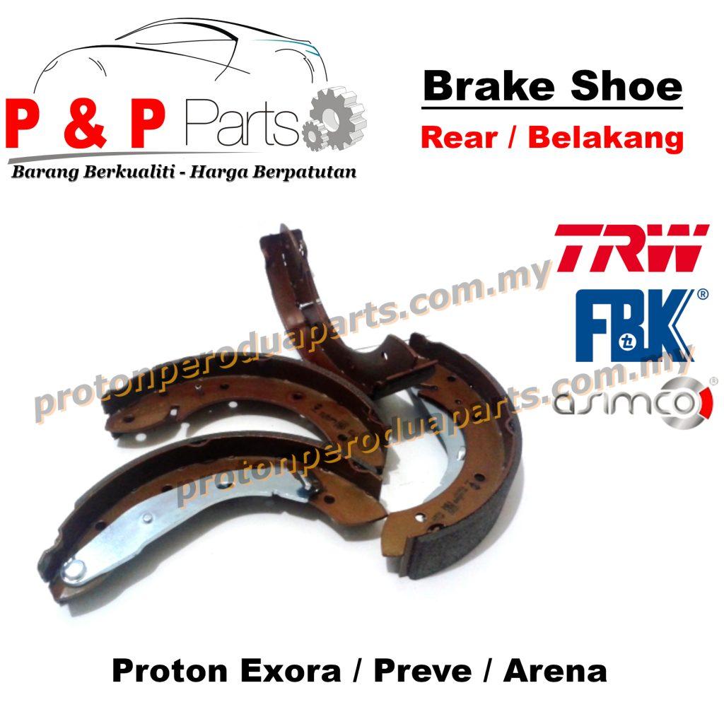 Rear Brake Shoe Lining Pad Belakang - Proton Exora Preve Arena