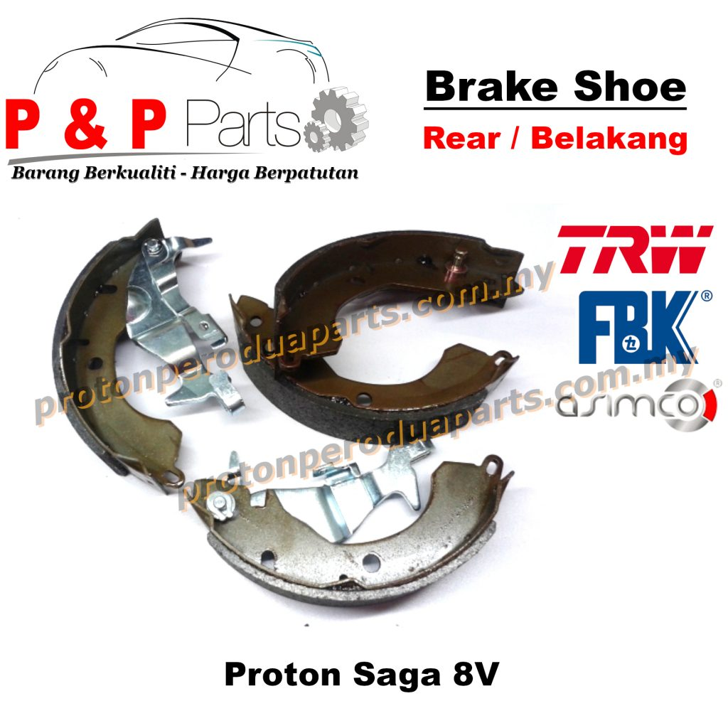 Rear Brake Shoe Lining Pad Belakang - Proton Saga 8V
