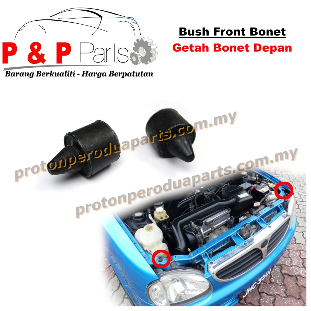 Bush Front Rear Bonnet Mounting Rubber / Getah Bonet Depan Belakang - Perodua Kelisa
