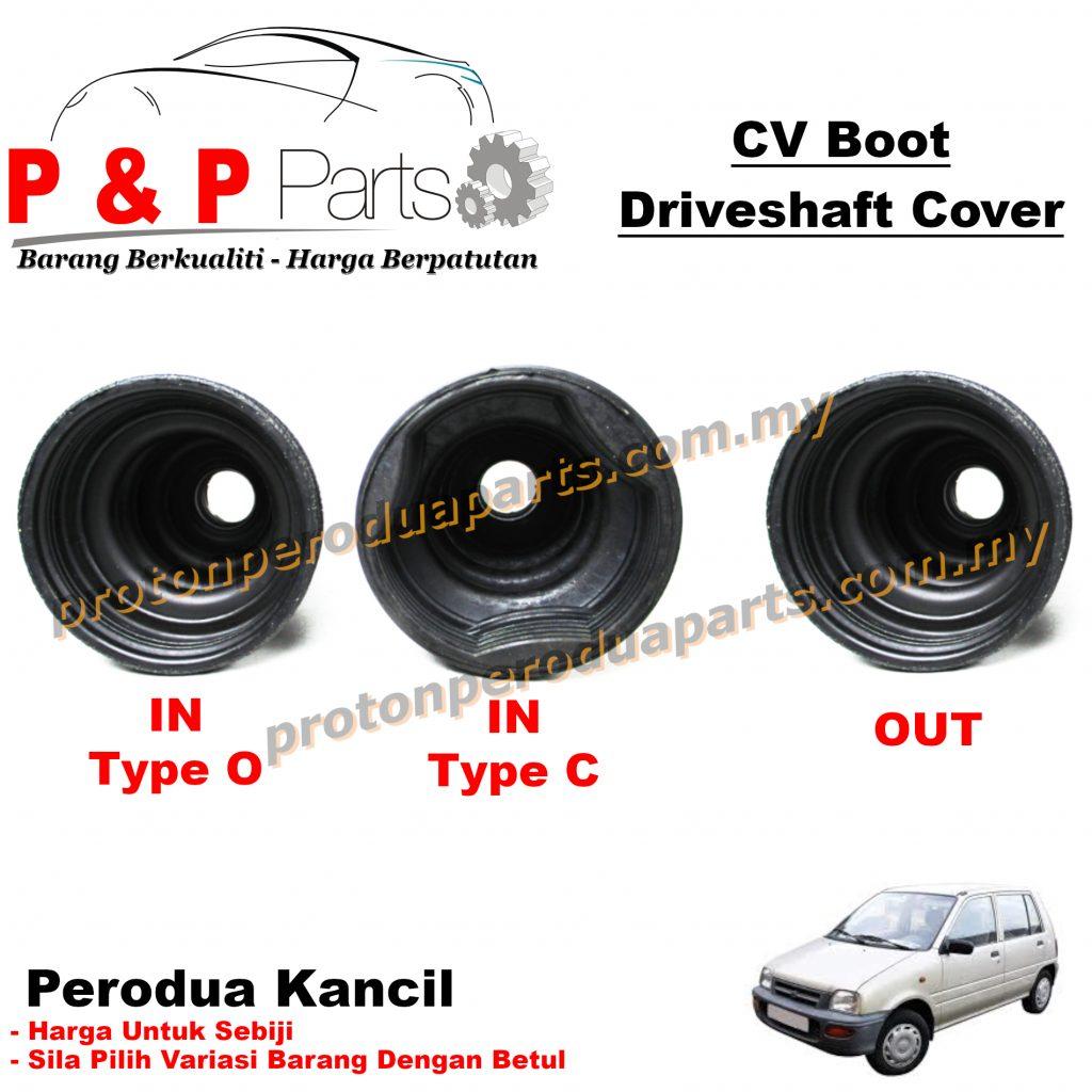 CV Joint Boot In Out / Getah Driveshaft Luar Dalam - Perodua Kancil 660 850 - 1biji