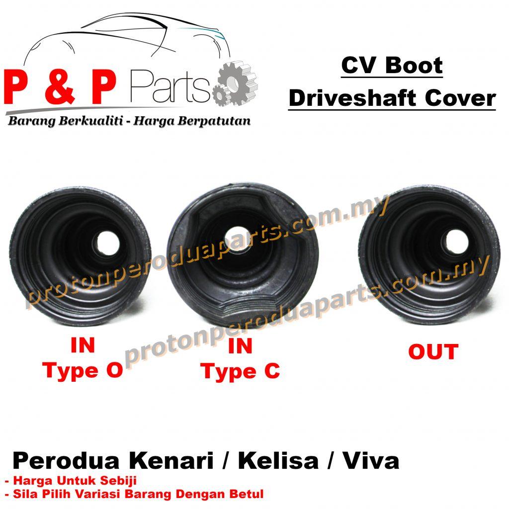 CV Joint Boot In Out / Getah Driveshaft Luar Dalam - Perodua Kenari Kelisa Viva - 1biji