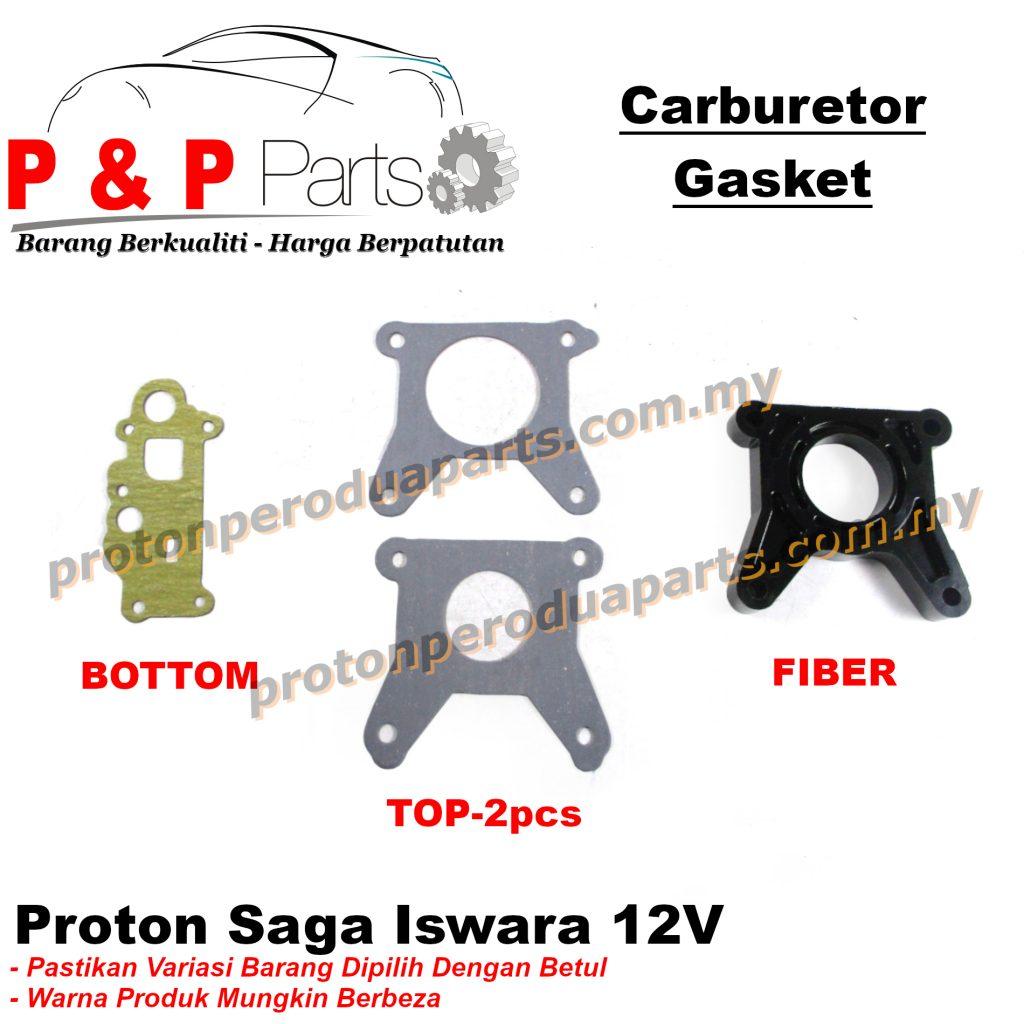 Carburetor Gasket Fiber - Proton Saga Iswara 12V Wira Satria