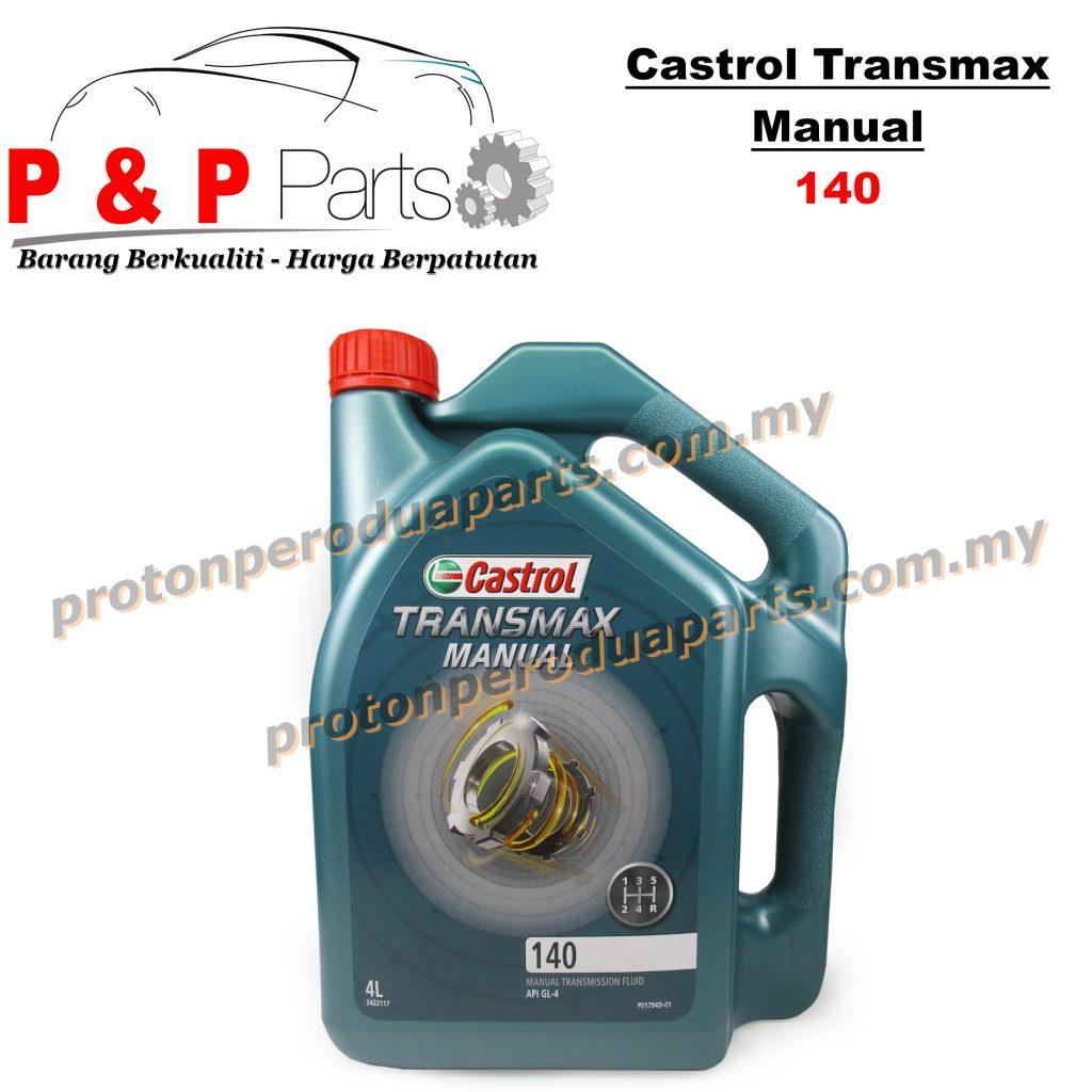 Castrol 140 Gear Oil Manual Transmission Fluid 140 - 4 Liter - Minyak Gear Manual