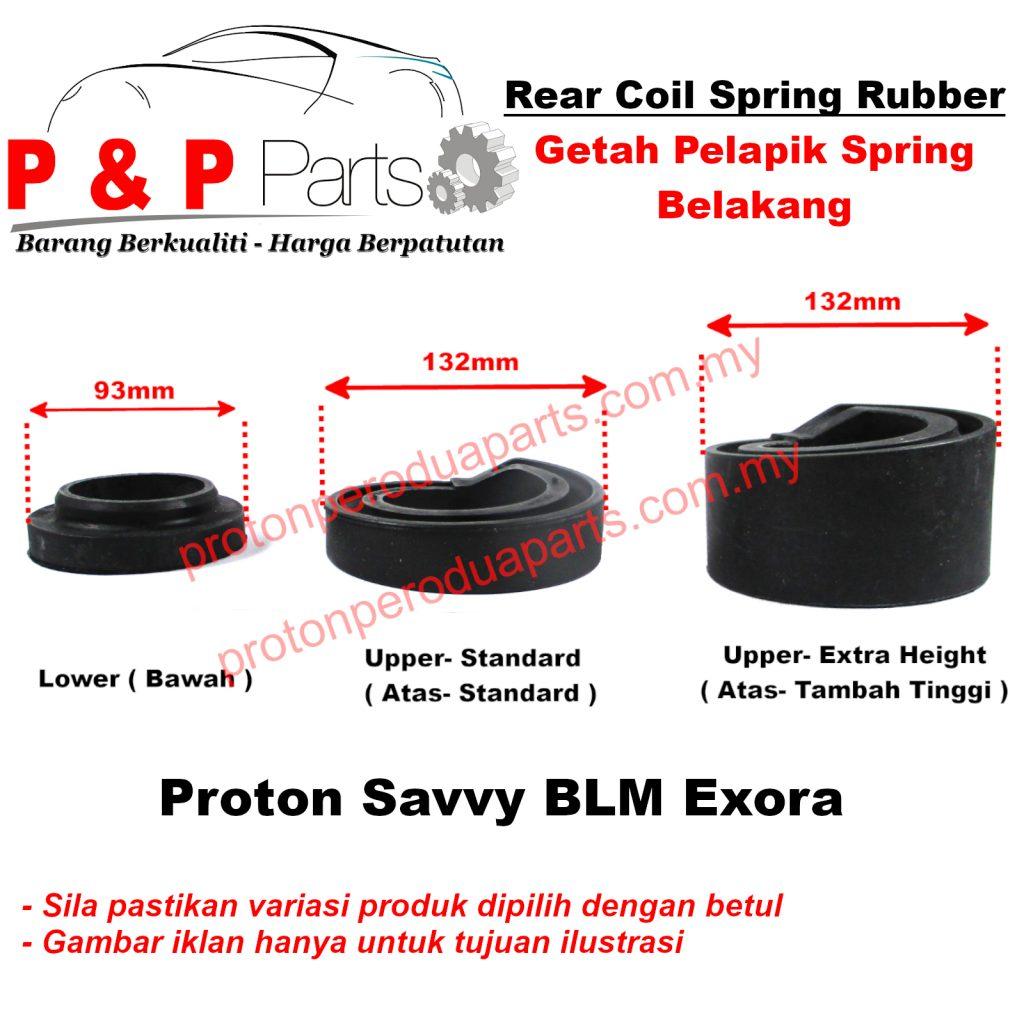 Rear Coil Spring Rubber Getah Pelapik Spring Belakang For Proton Saga BLM FL FLX Exora ( 2 PIECES )