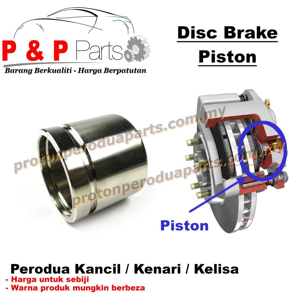 Front Disc Brake Piston Depan - Perodua Kancil Kenari Kelisa - 51mm