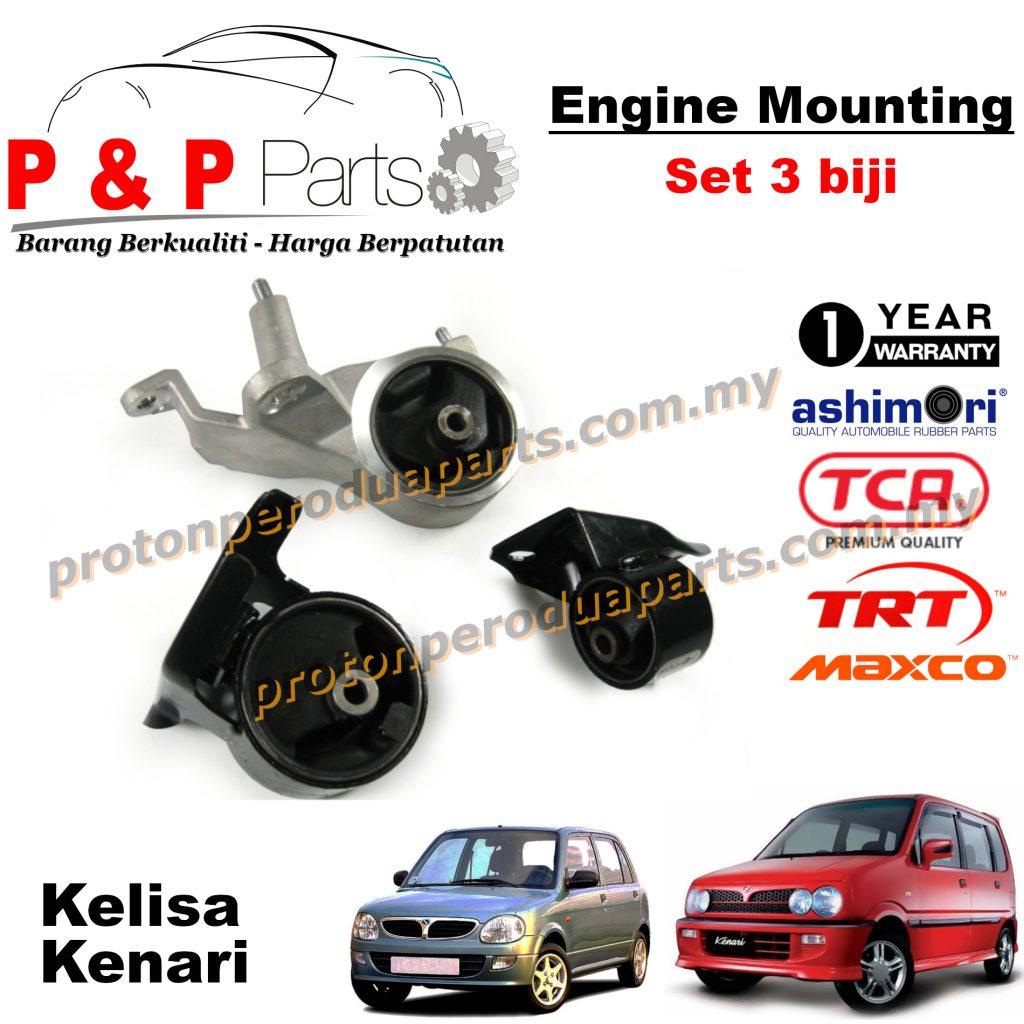 Engine Mounting - 3pcs Set - Perodua Kenari Kelisa - 1 Year Warranty