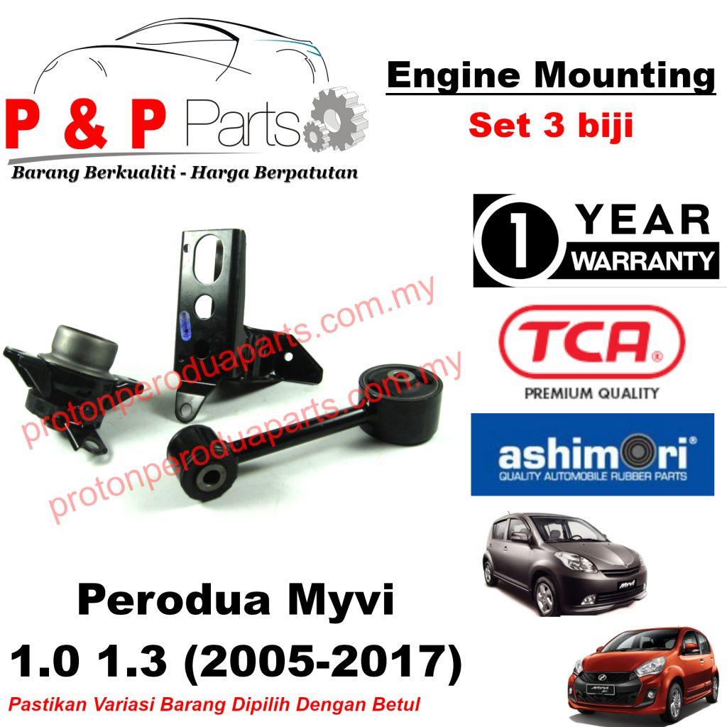 Engine Mounting - 3pcs Set - Perodua MyVi 1.0 1.3 - 1 Year Warranty