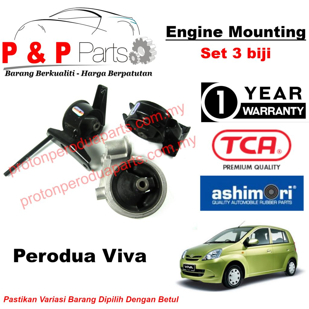 Engine Mounting - 3pcs Set - Perodua Viva - 1 Year Warranty