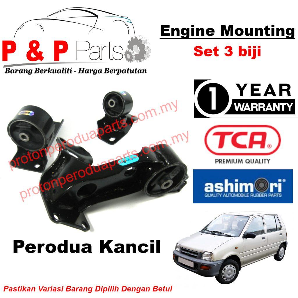 Engine Mounting - 3pcs Set - Perodua Kancil Daihatsu Ceria - 1 Year Warranty