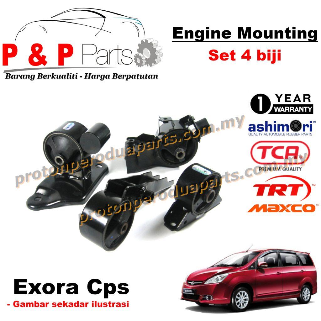 Engine Mounting - 4pcs Set - Proton Exora CPS - 1 Year Warranty