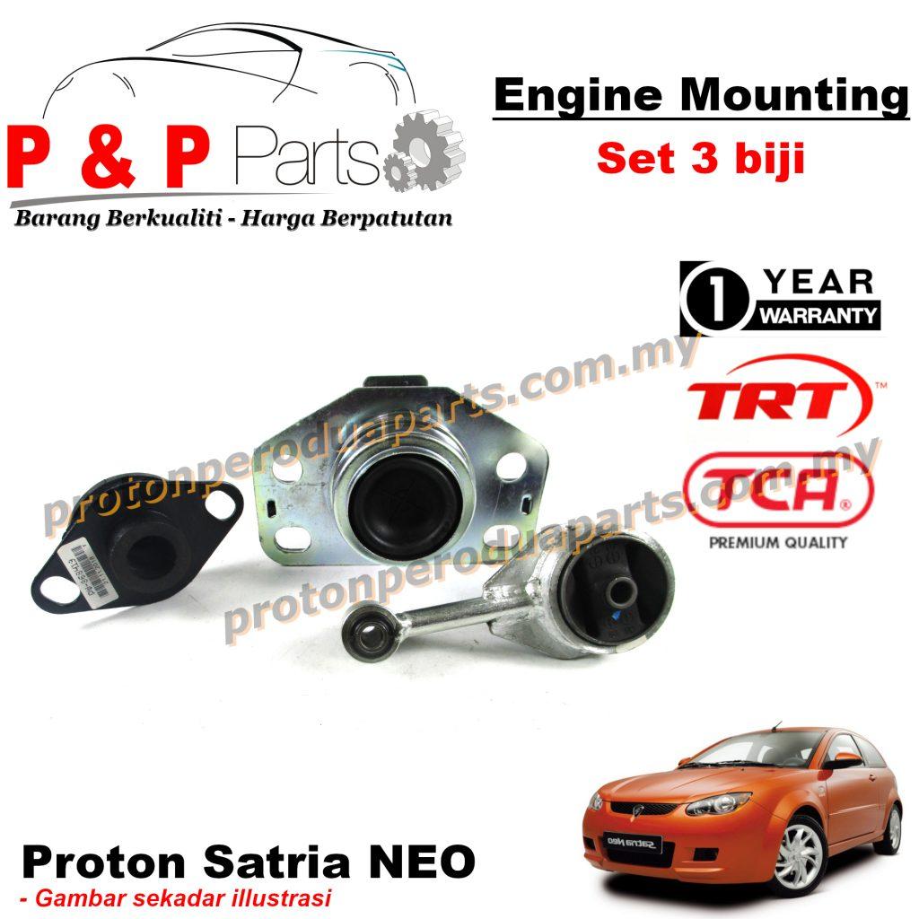 Engine Mounting 3pcs Set Proton Satria NEO 1 Year Warranty