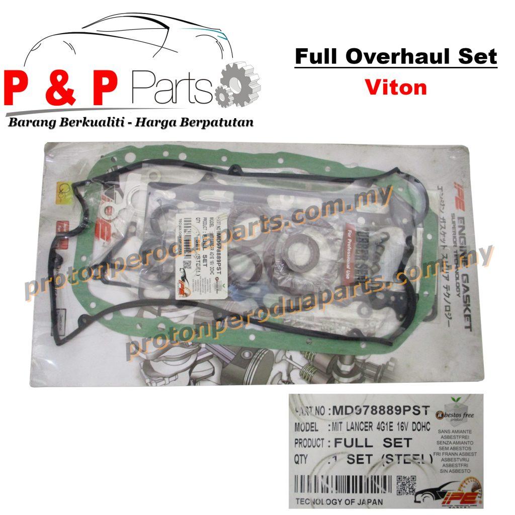 FULL Overhaul Gasket Set Viton - Mitsubishi Colt 4G15 DOHC 16V - Carbon / Steel