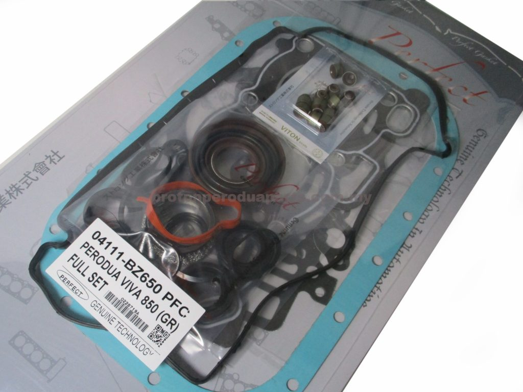 Engine Full Overhaul Gasket Set - Perodua Viva 660 850 - Carbon Viton