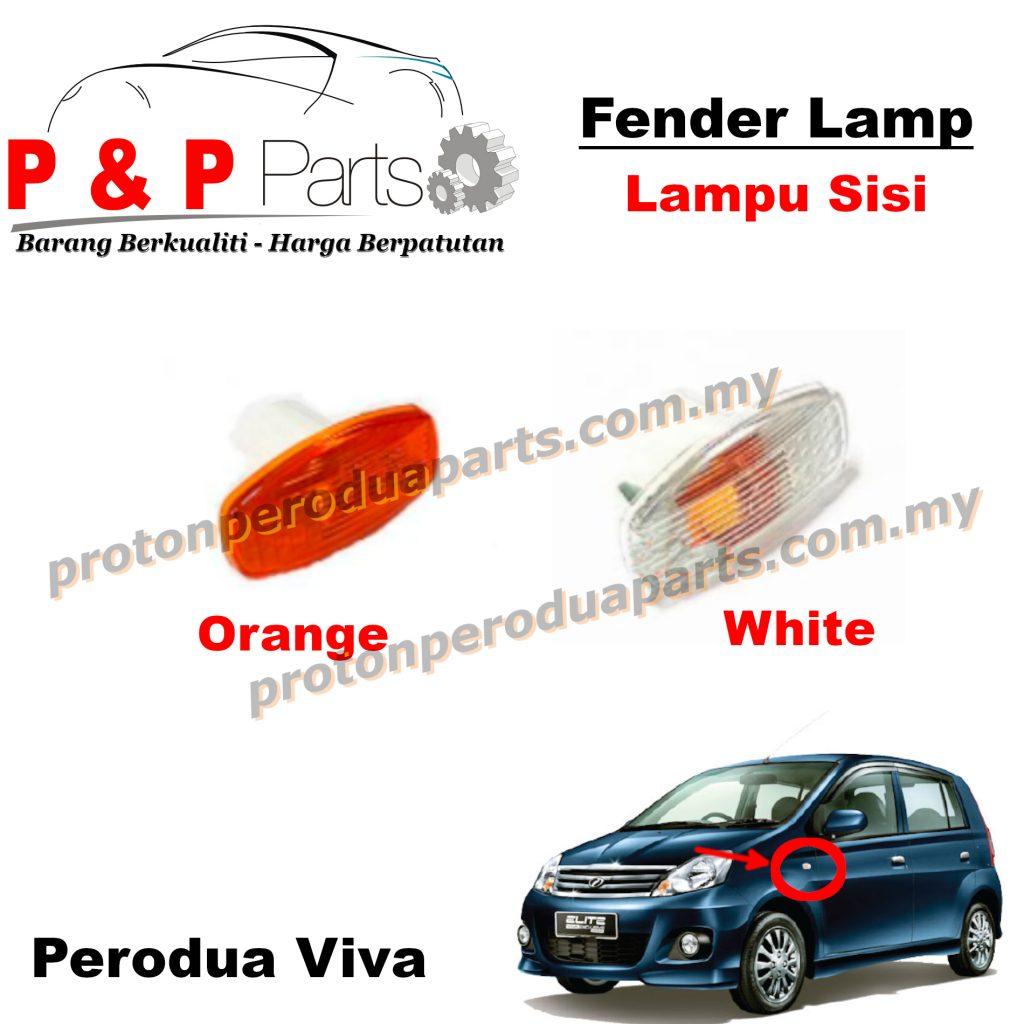 Fender Lamp Lampu Signal Sisi Tepi - Cover - Perodua Viva - 1pcs