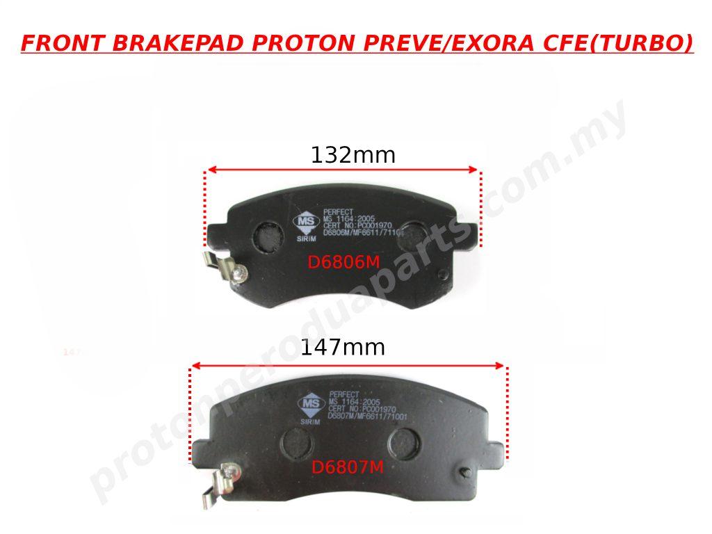 Front Brake Pad - Proton Exora Preve CFE Turbo