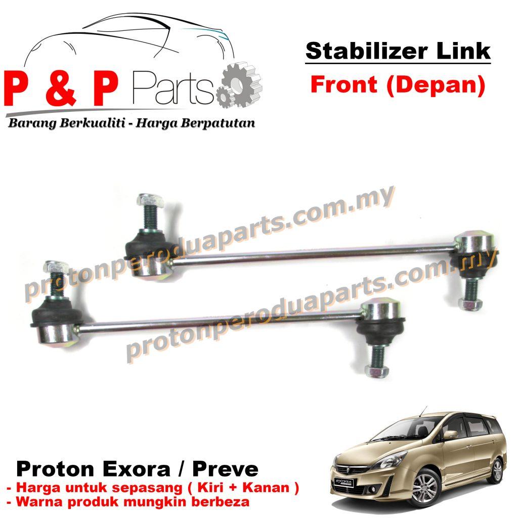 Front Absorber Stabilizer Suspension Link Depan - Proton Exora Preve - 1pair (sepasang)