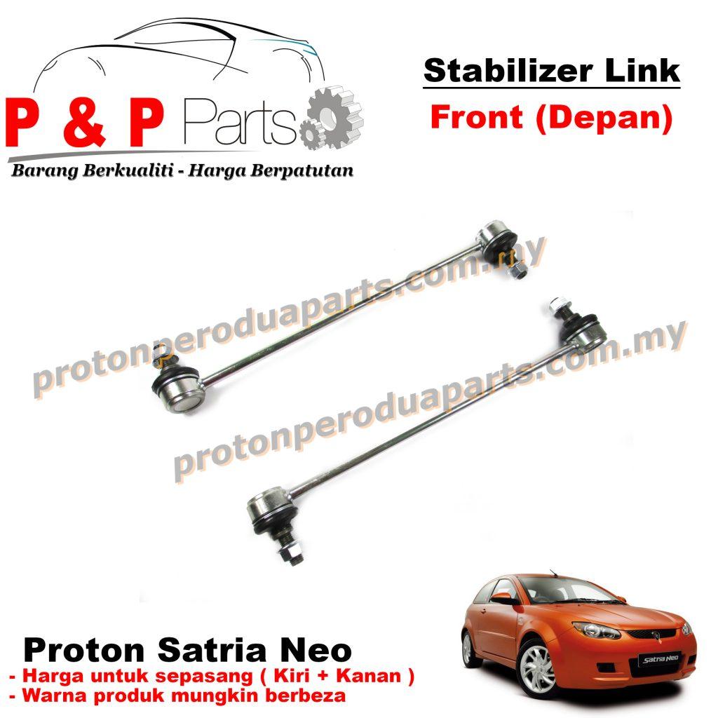 Front Absorber Stabilizer Suspension Link Depan - Proton Satria NEO - 1pair (sepasang)