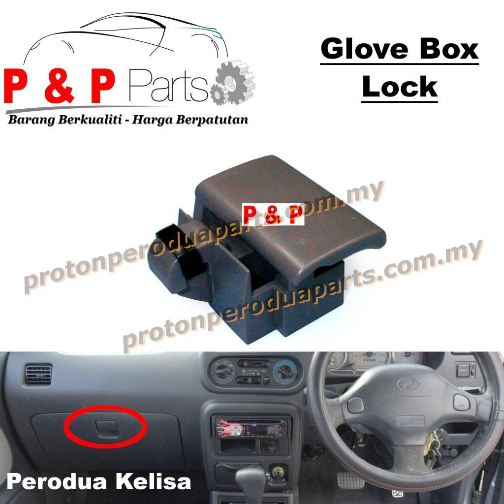 Drawer Glove Box Lock Dashboard for Perodua Kelisa - Beige / Grey