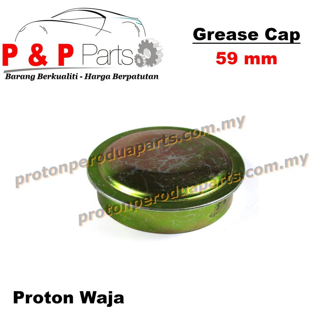 Wheel Bearing Grease Cap / Penutup Gris Bearing Tayar - Proton Waja - 59mm