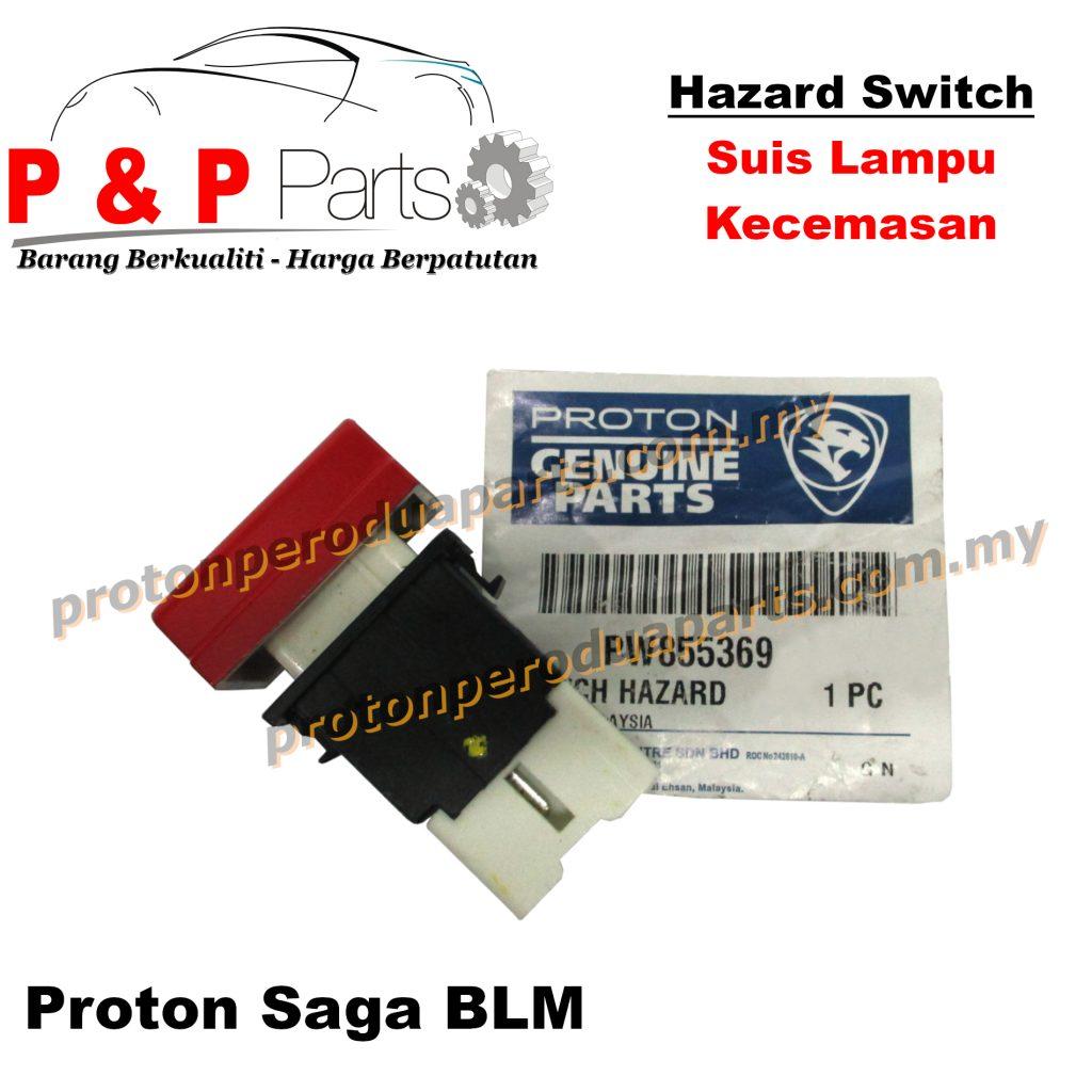 Hazard Switch Suis Lampu Kecemasan Double Signal - Original Proton -  Proton Saga BLM