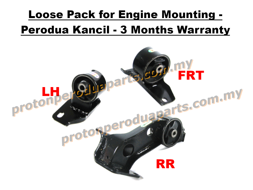 Loose Pack for Engine Mounting - Perodua Kancil - 3 Months Warranty