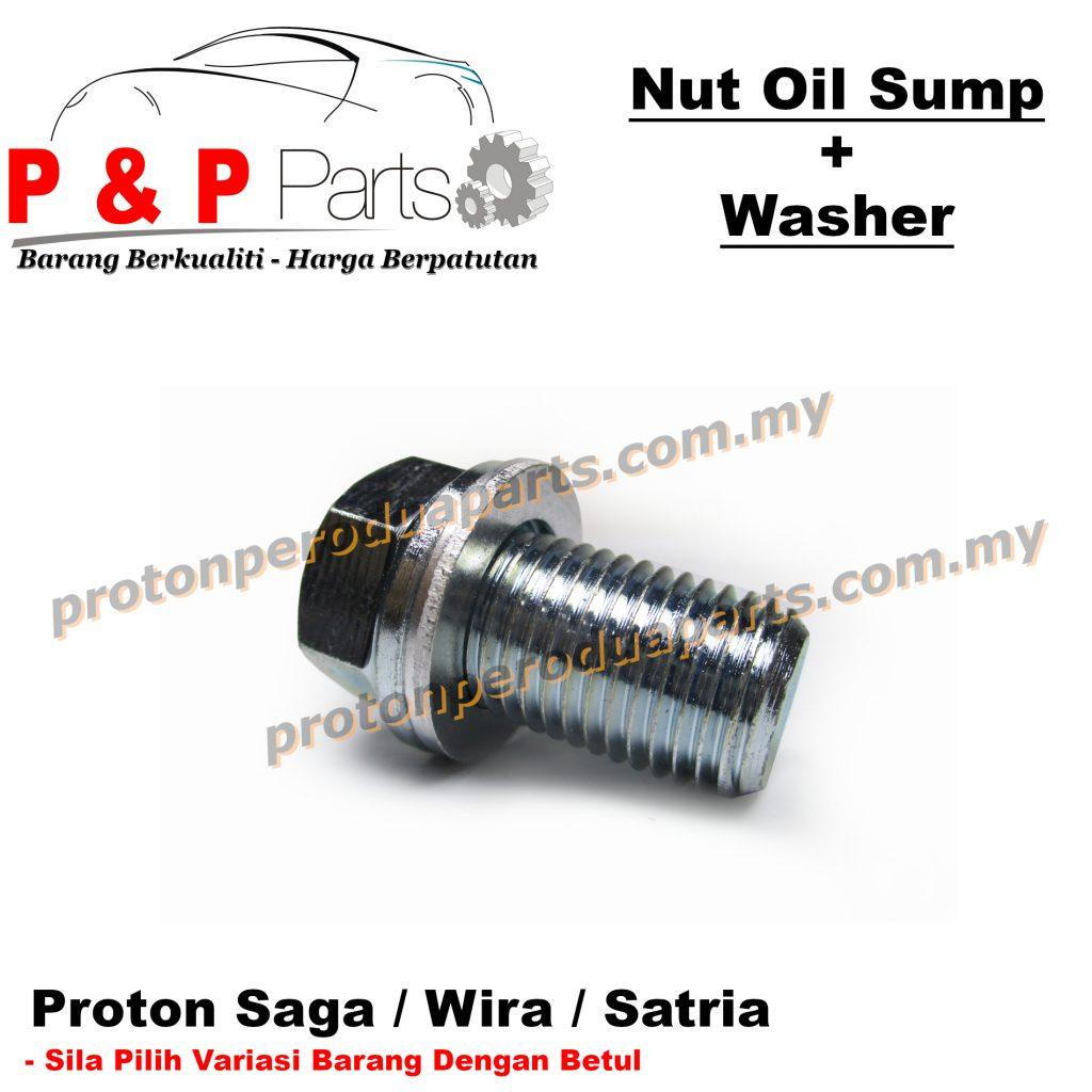 Nut Bolt Oil Sump Nat Skru Minyak Hitam Enjin + Washer for Proton Saga Wira Satria