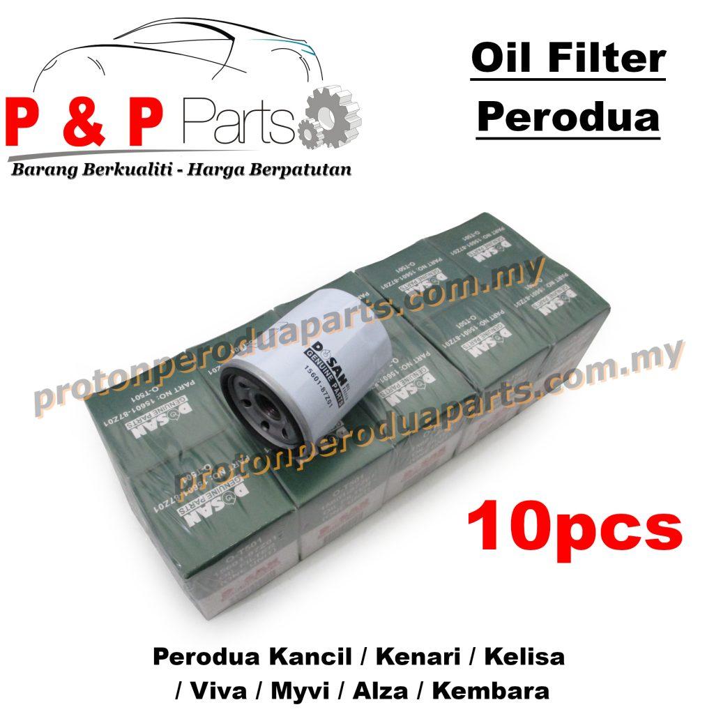 10pcs Engine Oil Filter for Perodua Kancil Kenari Kelisa Viva Myvi Alza Kembara Rusa - 10biji
