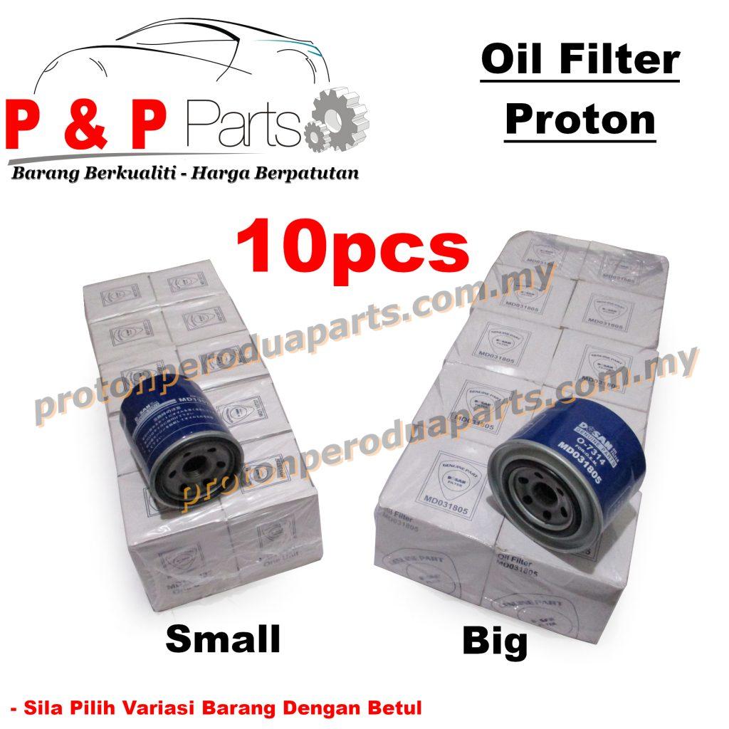 10pcs Engine Oil Filter for Proton Saga Wira Satria Waja Gen2 Persona BLM Exora Perdana - 10biji