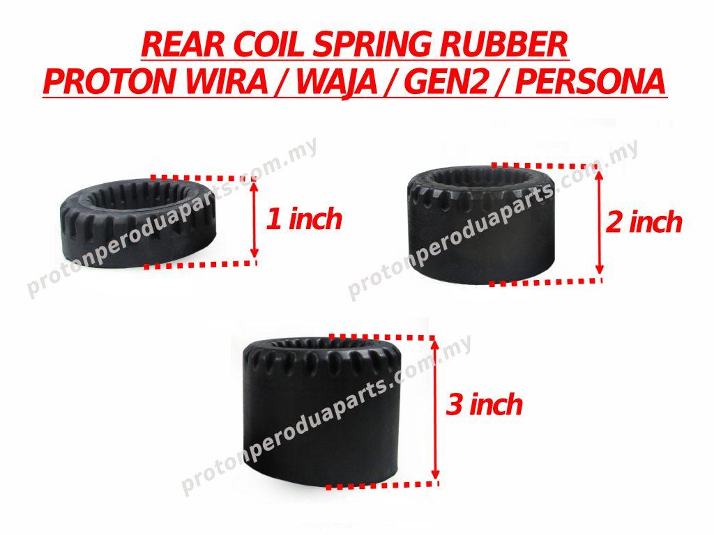 Rear Coil Spring Rubber Getah Pelapik Spring Belakang For Proton Wira Satria Waja Gen 2 Persona ( 2 Pieces / 1 Pair )