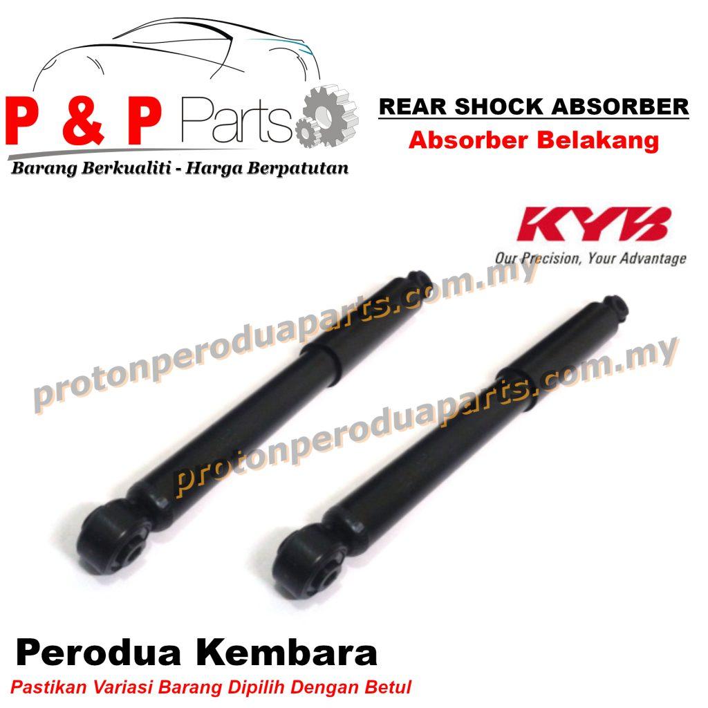 KYB Rear Shock Absorber Perodua Kembara OLD DVVT KYB Kayaba Gas - 2pcs