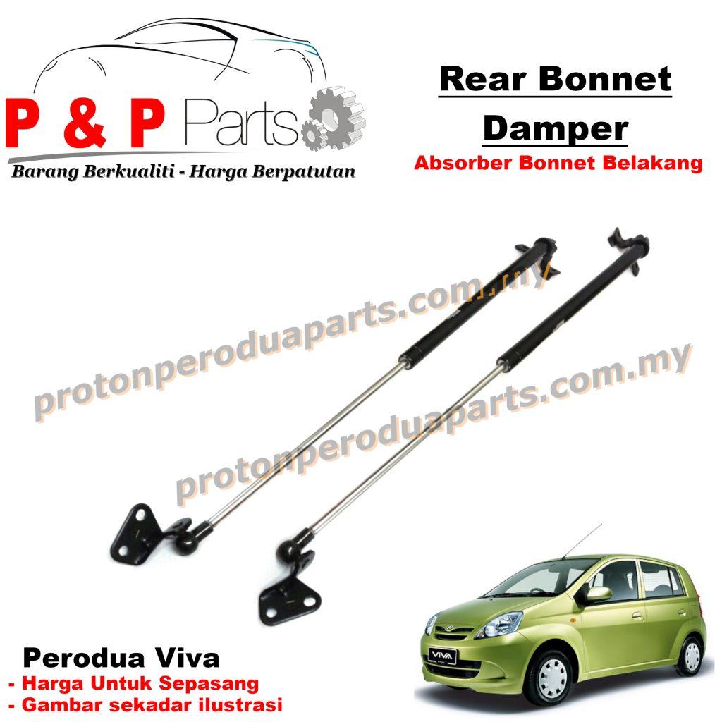 Rear Absorber Bonnet Damper Belakang For Perodua Viva - 1pair (sepasang)