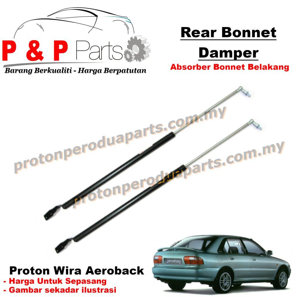 Rear Absorber Bonnet Damper For Proton Wira SE 1.3 1.5 1.6 Aeroback Hatchback - 1pair (sepasang)