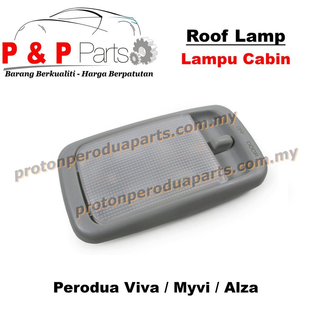 Roof Room Interior Lamp Grey Lampu Cabin Dalam + Bulb - Perodua Viva Myvi Alza
