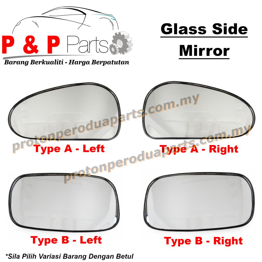 Side Mirror Glass Kaca Cermin Sisi - Proton Gen 2 Persona