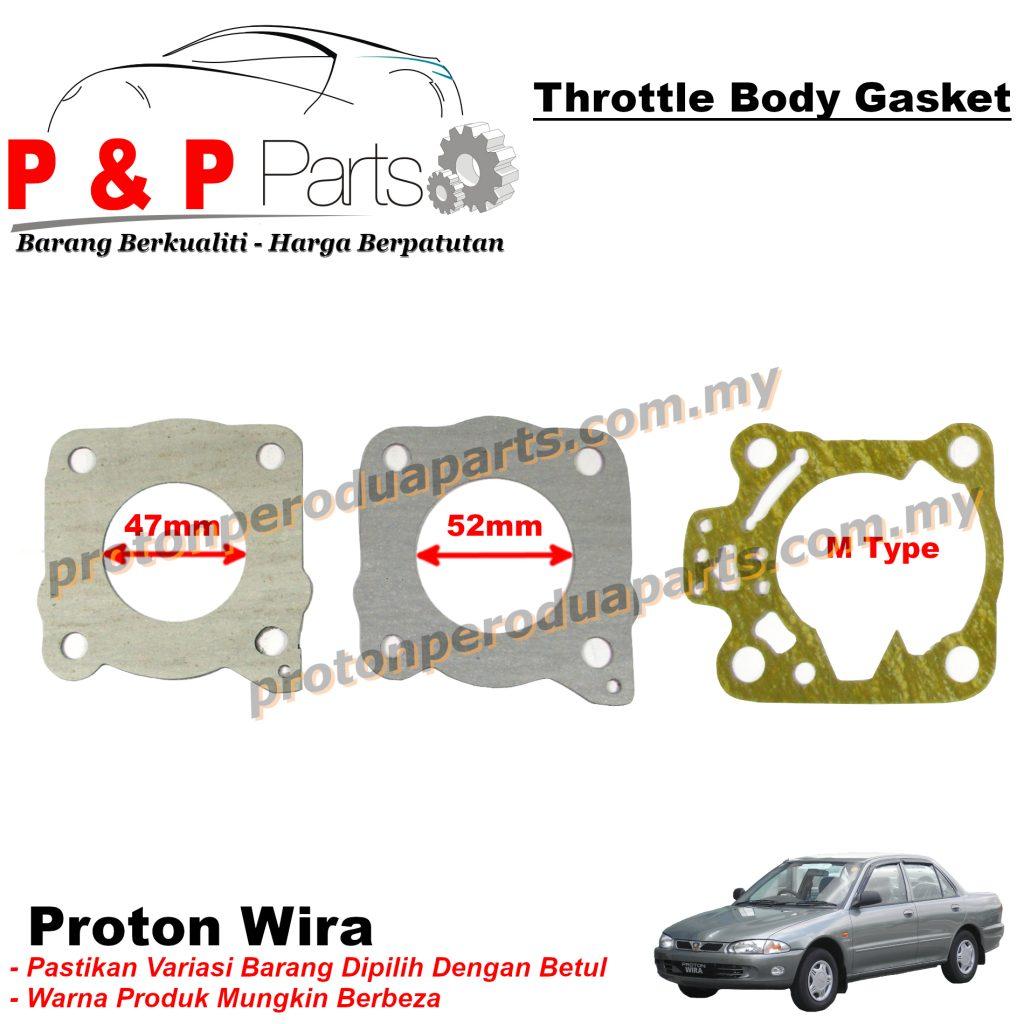 Throttle Body Gasket For Proton Wira 1.3 1.5 1.6 4G13 4G15 4G92 VDO Injection MMC