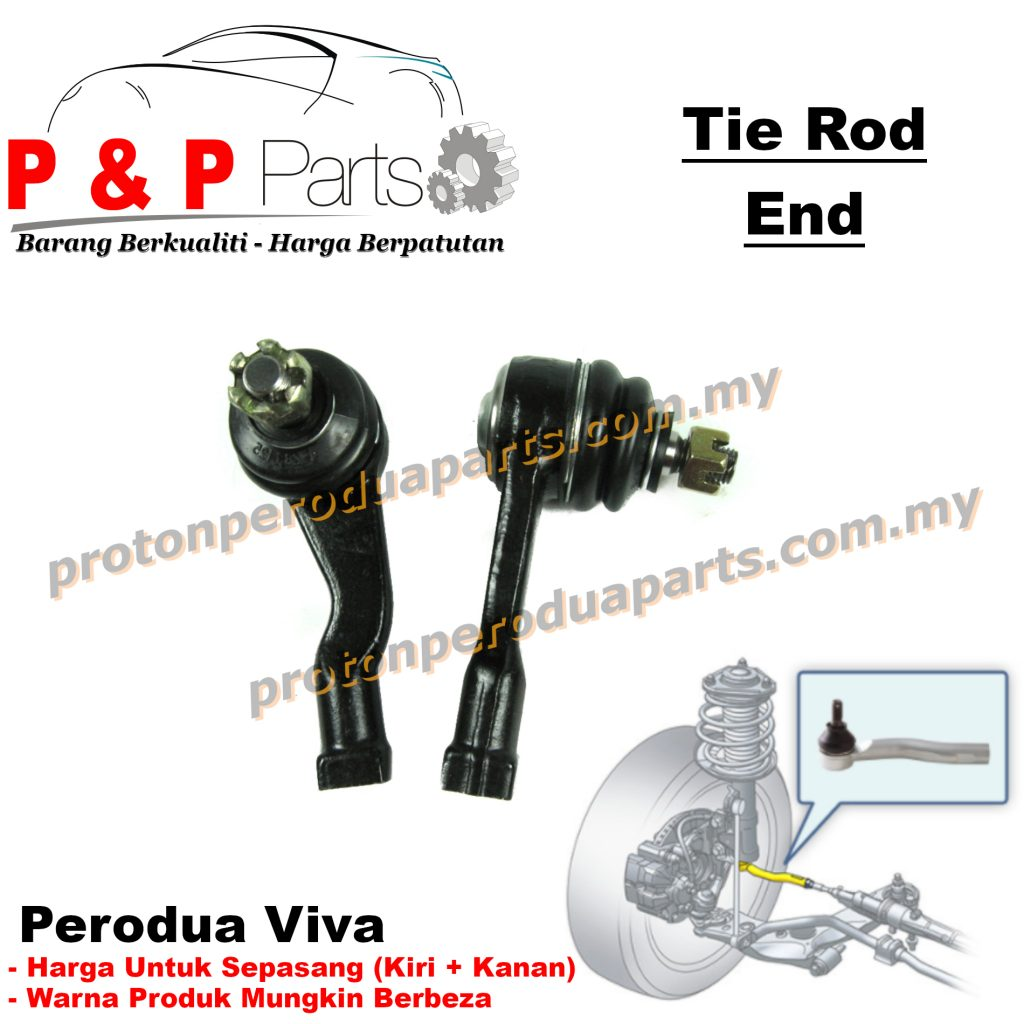 Steering Outer Tie Rod End for Perodua Viva - Front Absorber Stabilizer Suspension Link Depan - 2 pcs