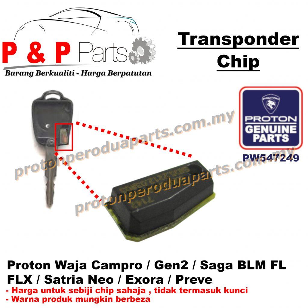 Transponder Immobilizer Chip Remote Car Key Kunci - Proton Gen 2 Waja Campro Saga BLM FL FLX Satria Neo Exora Preve