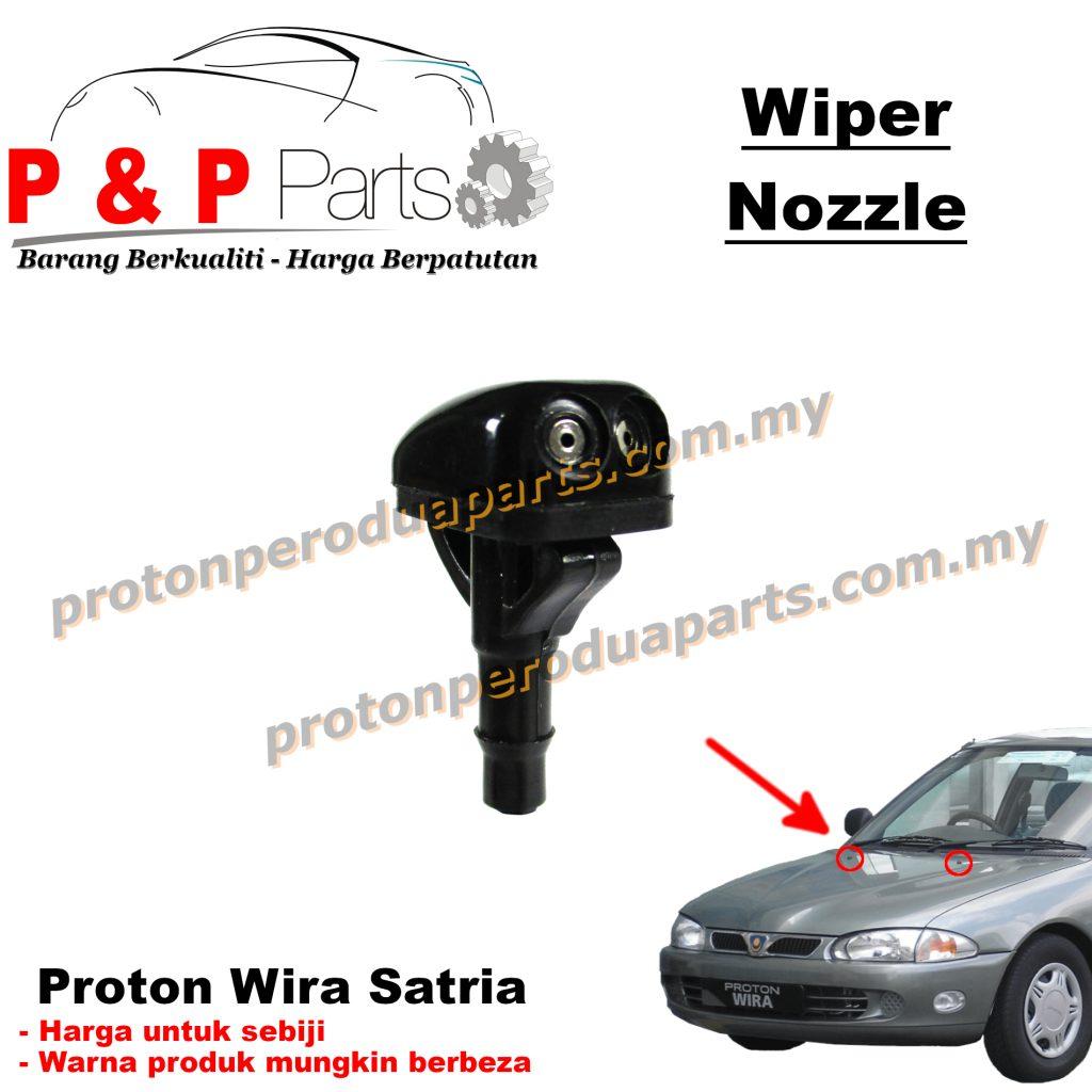 Wiper Nozzle Washer Spray - Proton Wira Satria - 1biji