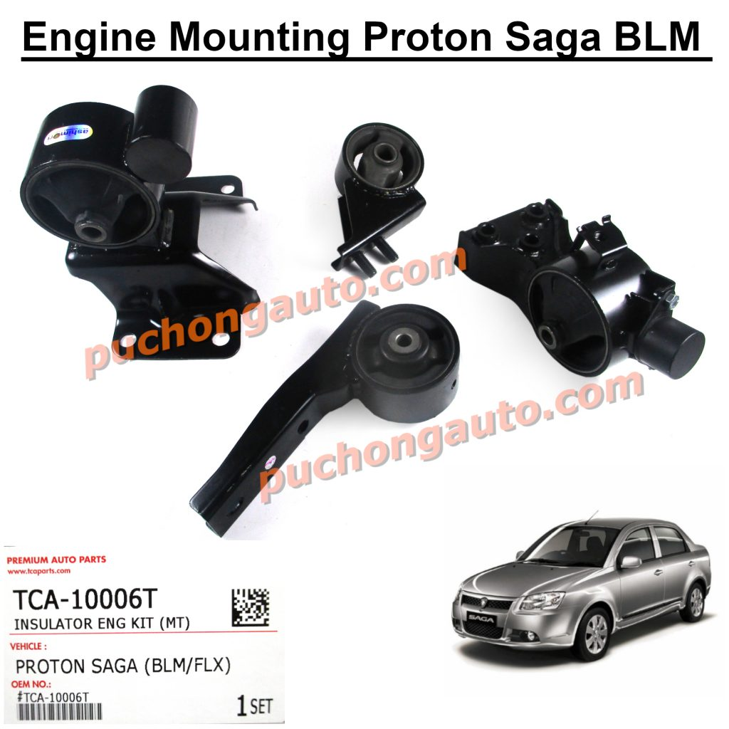 Engine Mounting - 4pcs Set - Proton Saga BLM - 1 Year Warranty