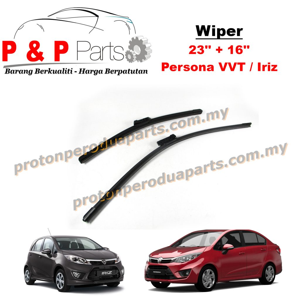 Front Wiper Blade For Proton Persona VVT Iriz Size 23 + 16 inci ( 2 Pieces / 1 Pair )